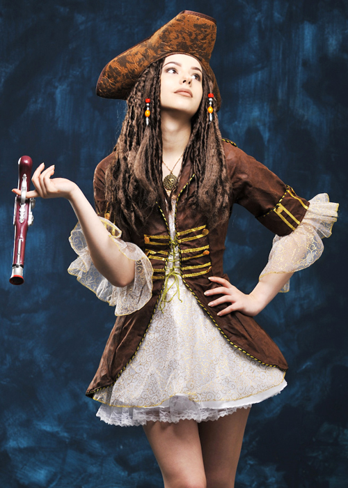 Womens Jack Sparrow Style Pirate Costume