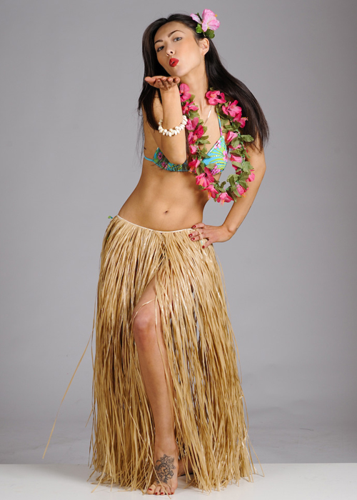 how to make grass skirt made of straw