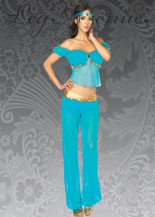 Princess Jasmine Style Arabian Beauty Costume  sc 1 st  eBay & Princess Jasmine Style Arabian Beauty Costume | eBay
