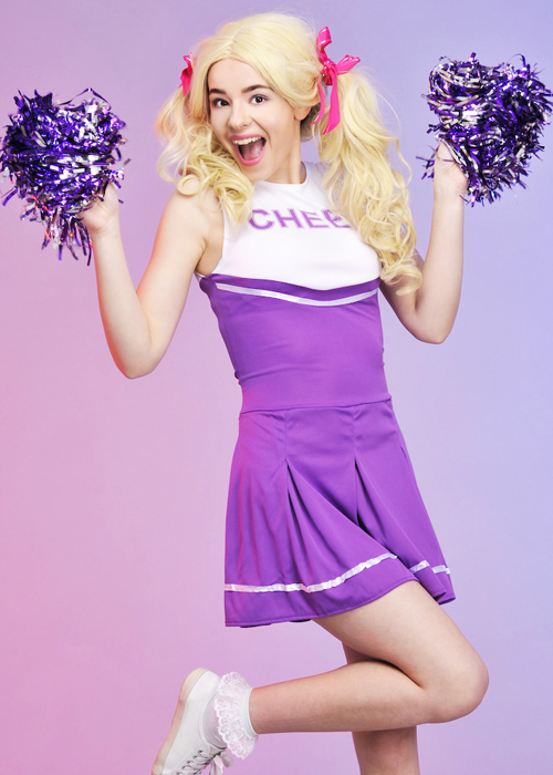 sc 1 st  Struts Fancy Dress & Adult Purple High School Cheerleader Costume