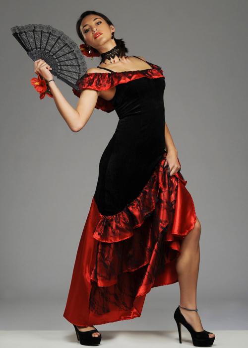 Womens Red Spanish Senorita Costume