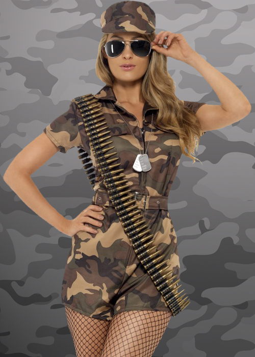 Womens Sexy Army Girl Costume  sc 1 st  eBay & Womens Sexy Army Girl Costume | eBay