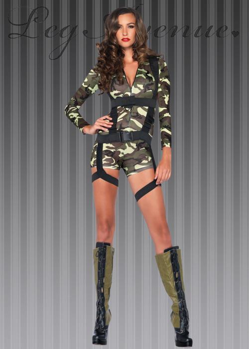sc 1 st  Struts Fancy Dress & Womens Commando Army Girl Costume