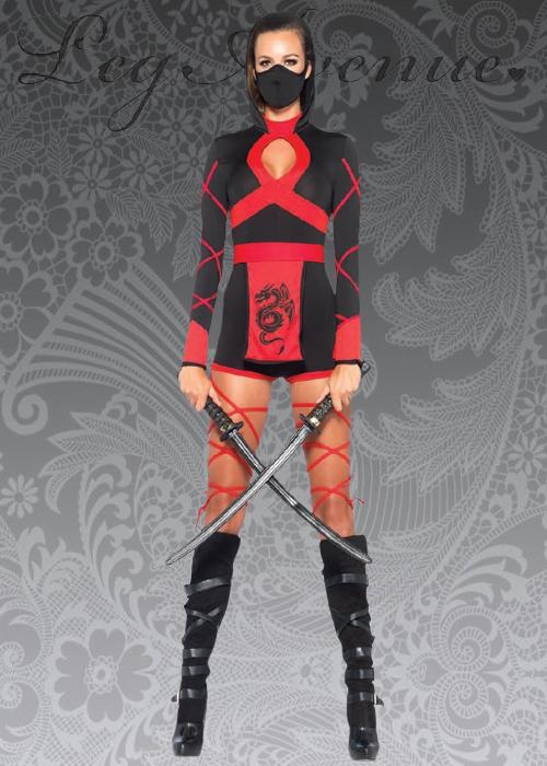 & Ladies Leg Avenue Dragon Ninja Costume