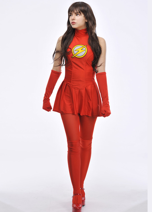 sc 1 st  Struts Fancy Dress & Womens Superhero The Flash Costume