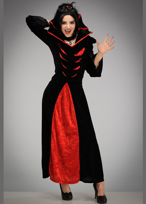 Womens Halloween Queen Of The Vampires Costume