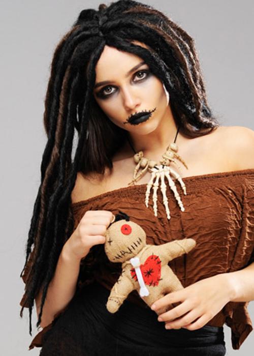 Womens Halloween Deluxe Voodoo Dreadlock Wig