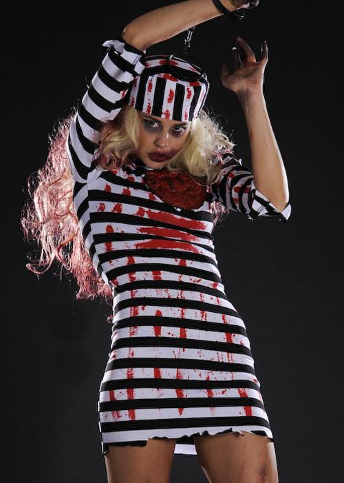 Halloween Horror Zombie Convict Costume