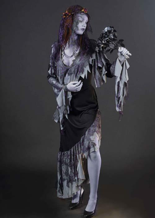 Ladies zombie corpse bride costume ladies zombie corpse for Corpse bride wedding dress for sale